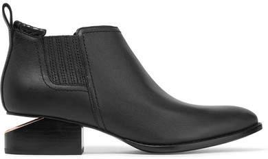 Alexander Wang - Kori Cutout Leather Ankle Boots - Black