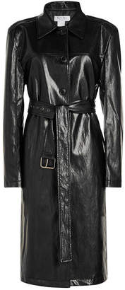 we11done Faux Leather Trench