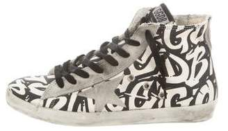 Golden Goose Patterned High-Top Sneakers