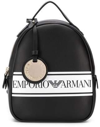 Emporio Armani contrast logo backpack