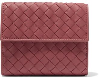 Bottega Veneta - Intrecciato Leather Wallet - Red $550 thestylecure.com