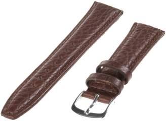 Republic Men's Shrunken Grain Leather Watch Strap 17mm Regular Length, Tan