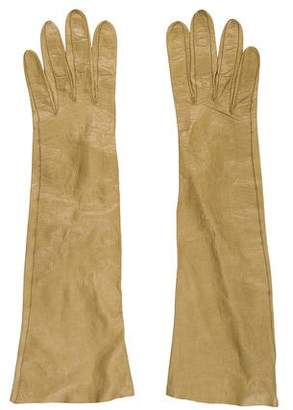 Christian Dior Leather Long Gloves