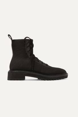 cc0c84fbf90a Loeffler Randall Brady Leather-paneled Stretch-knit Ankle Boots