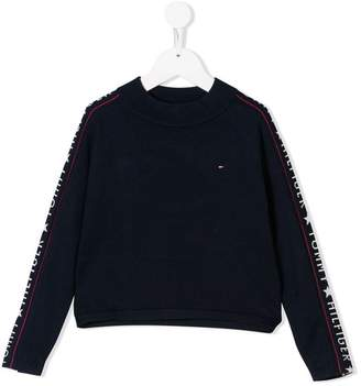 Tommy Hilfiger Junior logo sleeved jumper