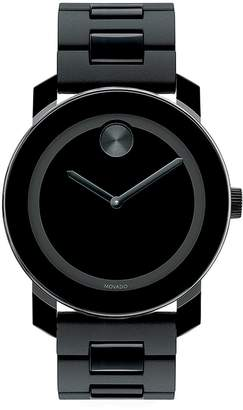 Movado Bold Bold Black TR90 Composite & Stainless Steel Bracelet Watch