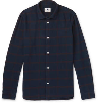 NN07 Alberto Checked Brushed Cotton-Flannel Shirt