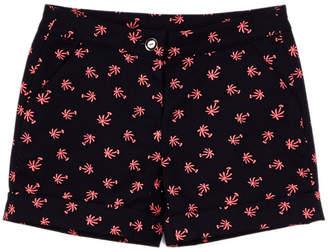 Brooks Brothers Girls' Palm Tree Short