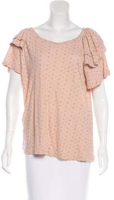 Current/Elliott Linen-Blend Printed Top w/ Tags