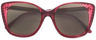 Bottega Veneta square frame sunglasses
