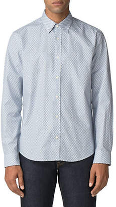 Ben Sherman Long-Sleeve Geo Mod-Fit Button-Down Shirt