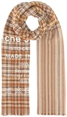 Acne Studios Cassiar Check wool scarf