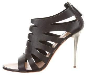 Giuseppe Zanotti Leather Cutout Sandals