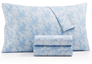 Martha Stewart Collection Essentials Printed Microfiber 4-Pc. Queen Sheet Set, Created for Macy's Bedding
