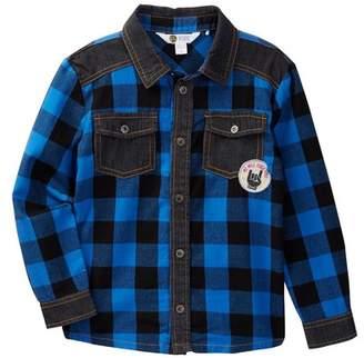 Petit Lem Long Sleeve Woven Shirt (Toddler Boys & Little Boys)