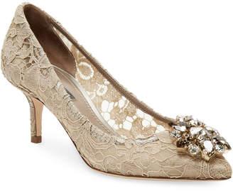 Dolce & Gabbana Embellished Lace Pump