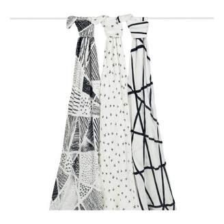 Aden Anais aden + anais Bambou Grapgic Swaddling Cloths 120x120cm - Pack of 3
