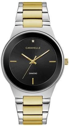 Caravelle Men's Diamond Stainless Steel Watch - 45D107
