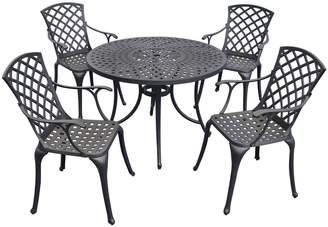 "Sedona 42"" 5-Piece Cast Aluminum Outdoor Dining Set"