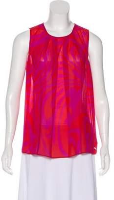 MICHAEL Michael Kors Sleeveless Printed Top