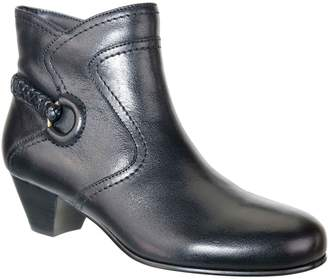 David Tate Leather Ankle Boots - Chica