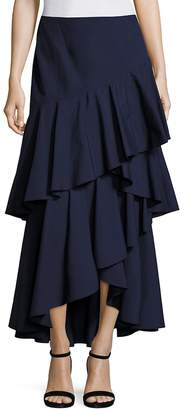 Alice + Olivia Women's Martina Hi-Lo Ruffled Maxi Skirt