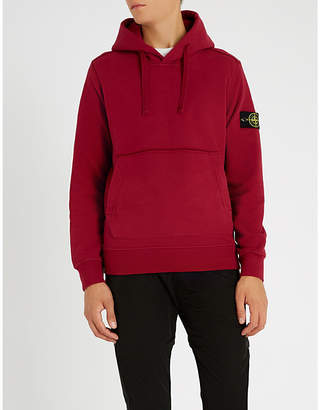 Stone Island Compass-patch cotton-jersey hoody