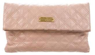 Marc Jacobs Quilted Leather Fold-Over Clutch Pink Quilted Leather Fold-Over Clutch
