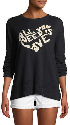Lisa Todd All You Need is Love w/ Heart Intarsia Sweater