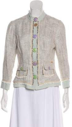 Blumarine Tweed Casual Jacket