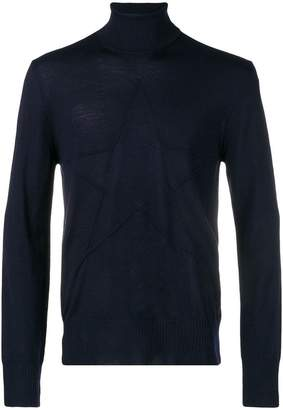 Just Cavalli roll-neck fitted sweater