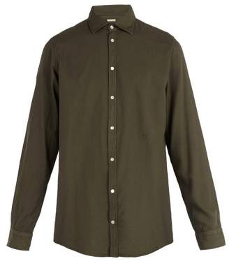 Massimo Alba Long Sleeved Cotton Blend Shirt - Mens - Green