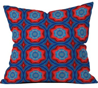 Deny Designs Red Sun Flowers Throw Pillow (Set of 2