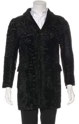 DSQUARED2 Lamb Shearling Overcoat
