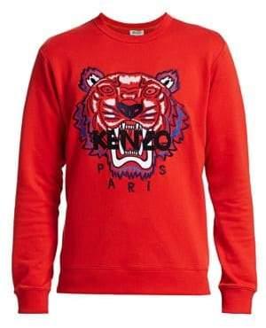 Kenzo Tiger Embroidered Crew Sweatshirt