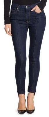 7 For All Mankind B(air) Skinny Jeans with Removable Stirrup $199 thestylecure.com