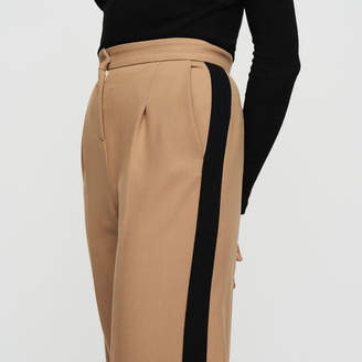 Maje Pleated pants with contrasting stripes