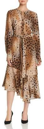 Lafayette 148 New York Delancy Cheetah-Print Silk Dress