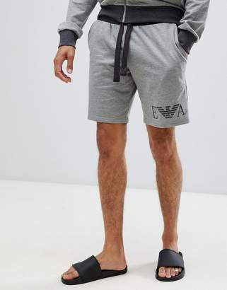 Emporio Armani EA logo sweat shorts in gray