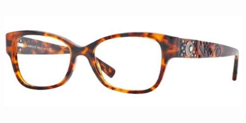 Versace Rectangular Eyeglass Frames 3196 54mm Tortoise