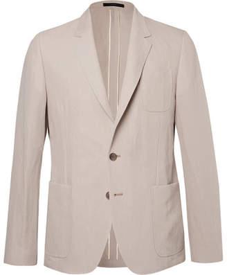 Paul Smith Beige Soho Slim-Fit Linen And Cotton-Blend Suit Jacket