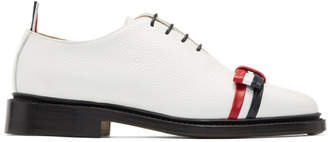 Thom Browne White Wholecut Bow Oxfords