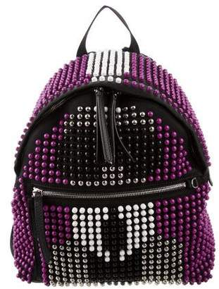 Fendi Karlito Studded Nylon Backpack