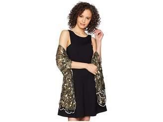 Betsey Johnson Paillette Sequin Tulle Wrap
