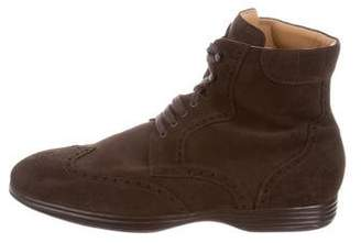 Isaia Suede Wingtip Ankle Boots