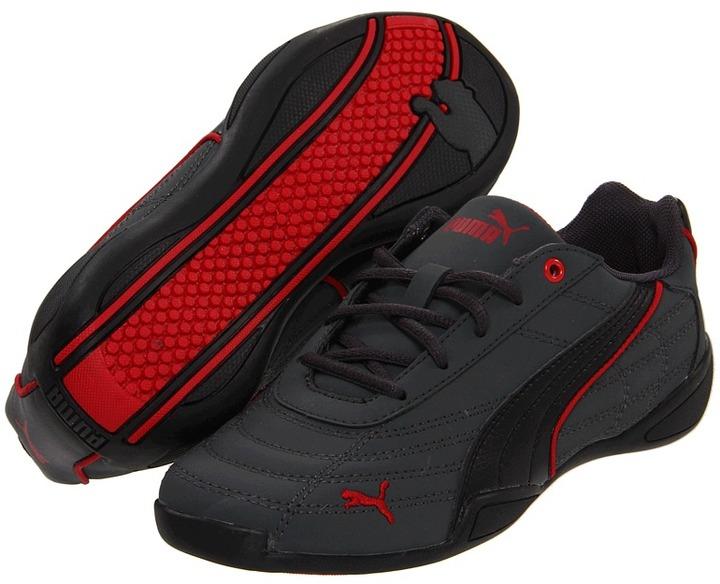 Puma Kids - Tune Cat NBK Jr. (Little Kid/Big Kid) (Dark Shadow/Black/Ribbon Red) - Footwear