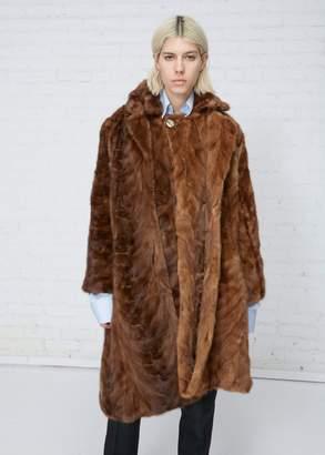 Vetements Milanesa Reworked Vintage Mink Fur Coat