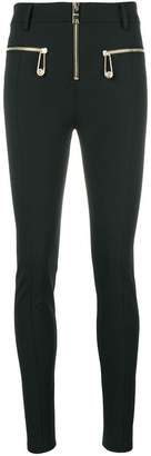 Versus skinny zip detail trousers
