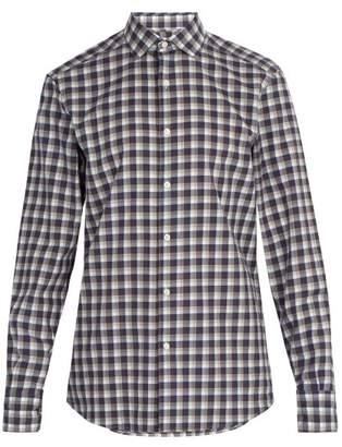 Ermenegildo Zegna Checked Cotton Shirt - Mens - Blue Multi
