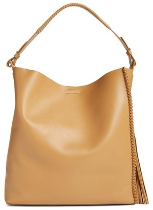 ALLSAINTS 'Pearl' Leather Hobo $398 thestylecure.com